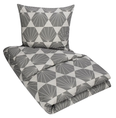 King size sengetøy - 100% bomull - Diamond grey - 240x220 cm