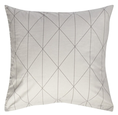 Putetrekk - 100% bomull - Graphic grey - 60x63 cm