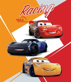 Fleece teppe - Cars 3 - 120x140 cm