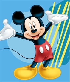 Fleece teppe - Mickey Mouse - 120x140 cm